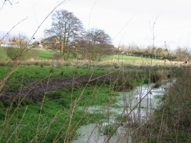 View of stream where it is crossed by 'Burnt House Hill'