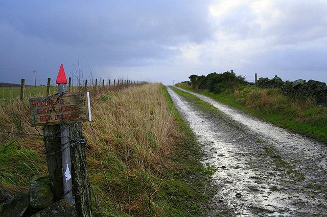 The lane to Woodhead Croft House.
