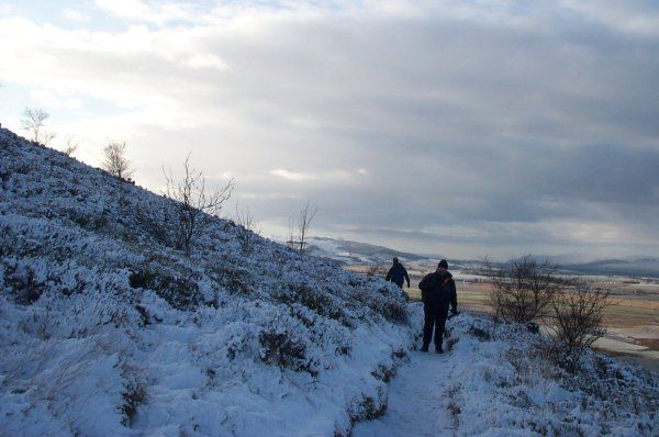 Snowy ascent of Vane Hill