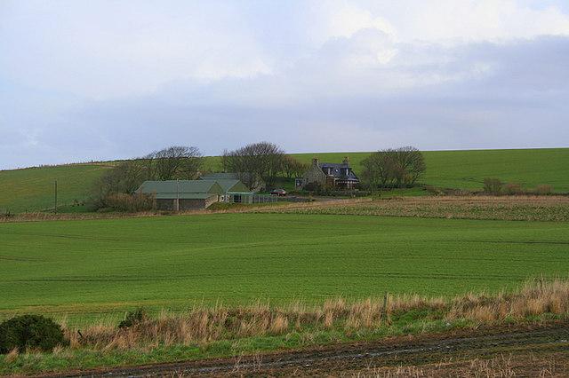 Southwest of Flobbans Farm.