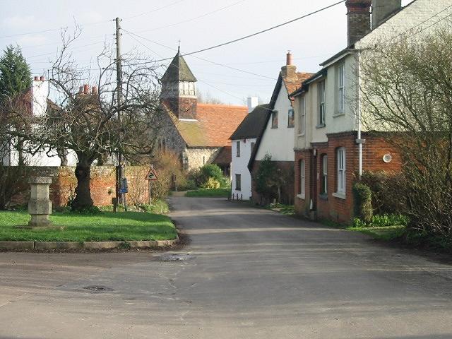 View to Stodmarsh Church along Stodmarsh Lane.