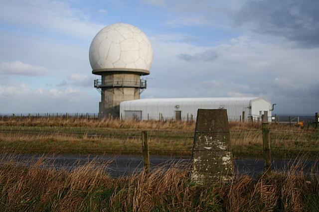 Triangulation Pillar by Allans Hill radar station.