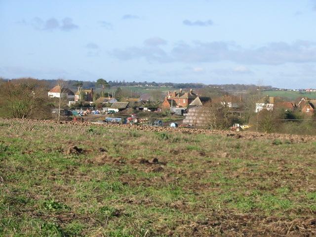 View over Stodmarsh village from Hollybush Lane.