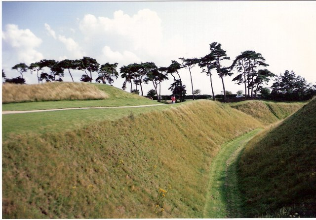 Castle moat and earthworks, Castle Rising
