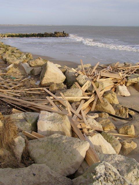 Planks washed ashore, Hengistbury Head