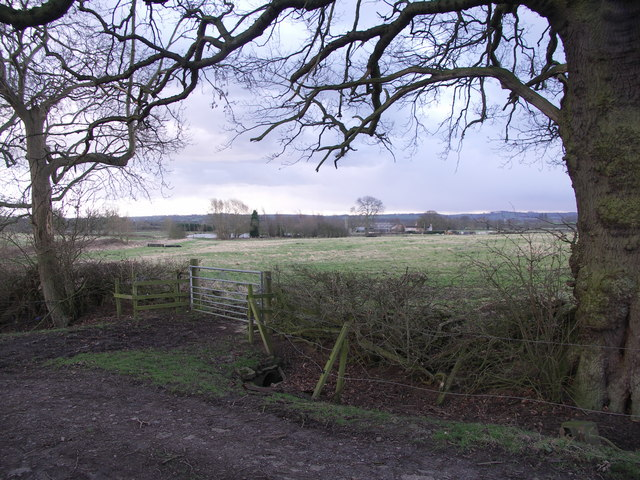View to Holme's Farm and lake.