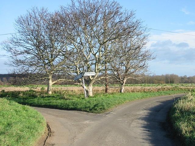 Junction at corner of Baye Lane.