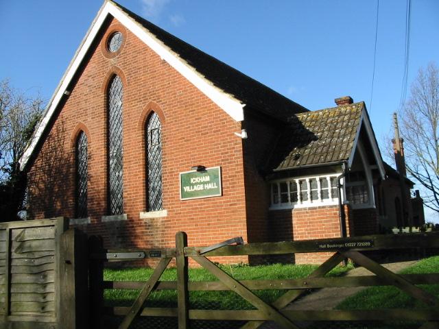 Ickham village hall.