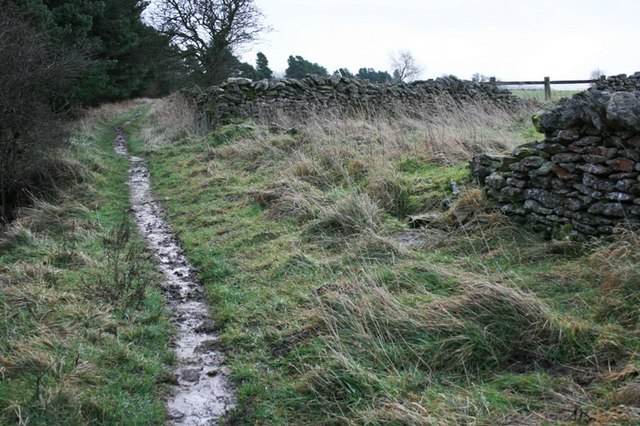 Public Bridleway and Wall Junction