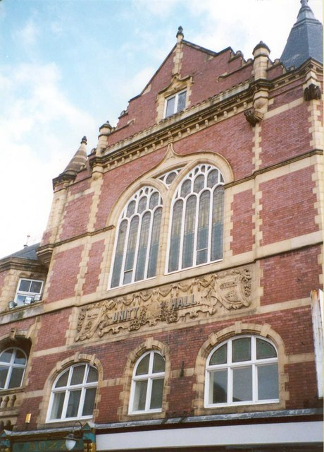 Façade of Unity Hall, Westgate, Wakefield