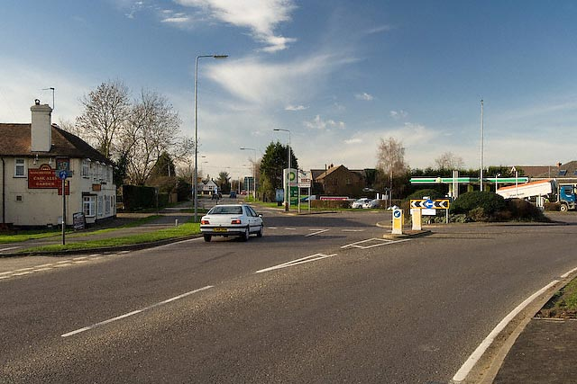 Roundabout, St Audrey Lane and Somersham road, St Ives