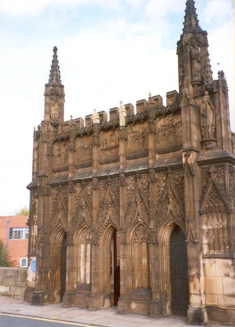 The west front of the Chantry Chapel, Bridge Street, Wakefield