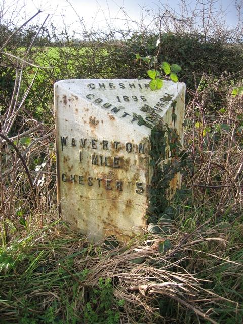Mile Post at Hatton Heath