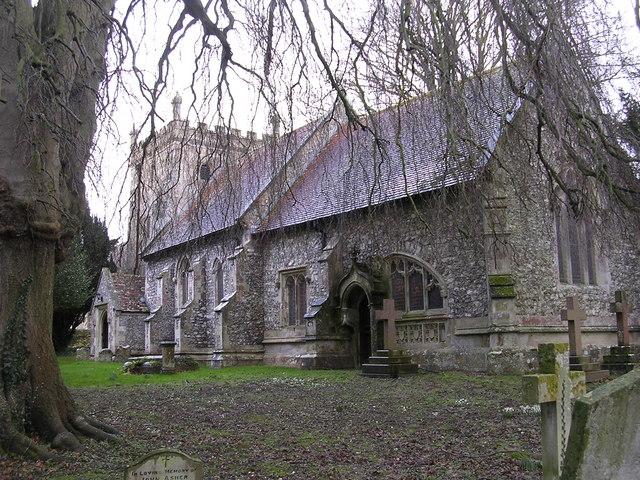 SS Peter & Paul church at Thruxton