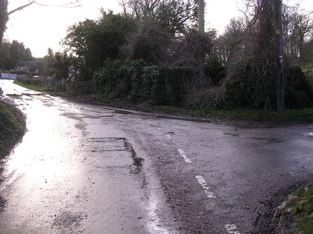 Road junction at Binley