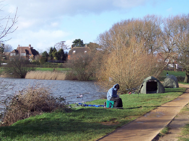 A Cold Fisherman at Heath Pond