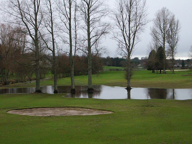 Waterlogged golf course