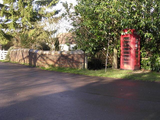 Telephone box at Stoke