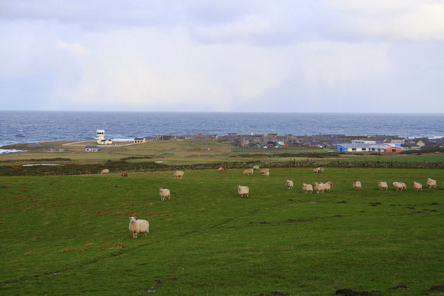 View from Braco Park Farm towards Rosehearty.