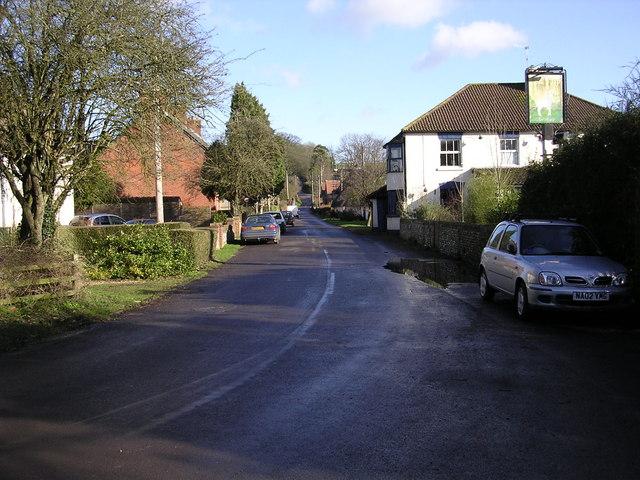 Minor road through Stoke