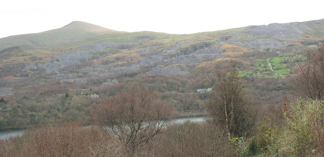 The Cefn Du Quarries viewed from Fachwen