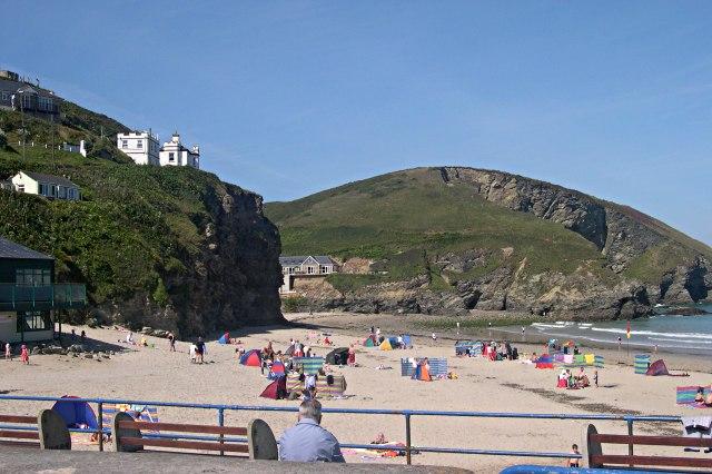 Portreath Beach and Western Hill