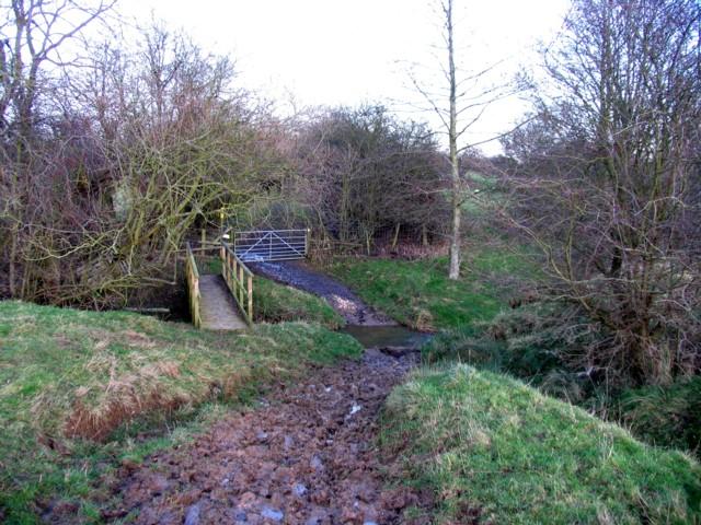 Bridleway fords a stream