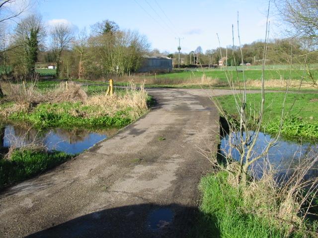 Road over stream at Garrington.