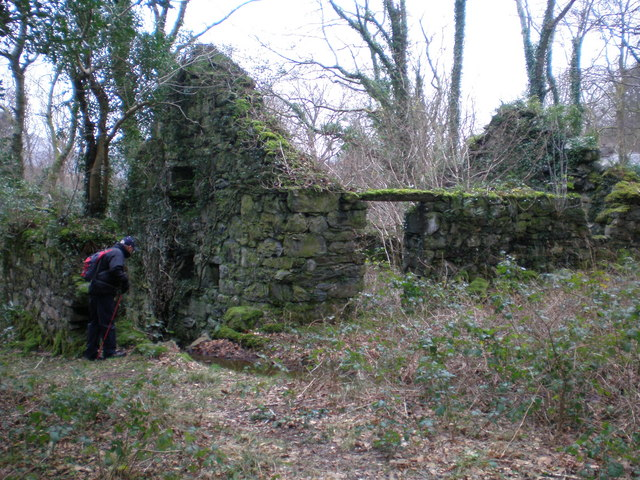 Old mill at Cae Gwian.