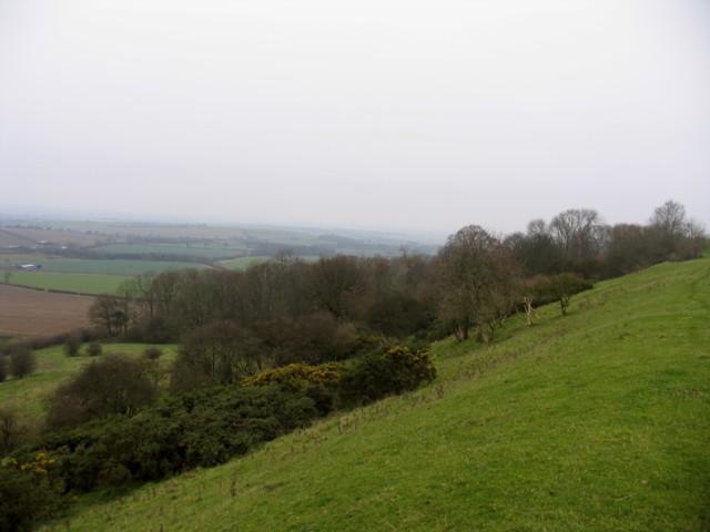 Northwest rampart Burrough Hill