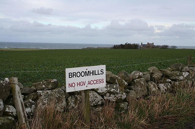 Farmland west of Broomhills.
