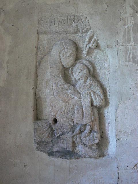 St Johns Church Inglesham, interior showing Madonna and child