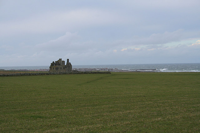 Southwesterly view of Pittulie Castle.