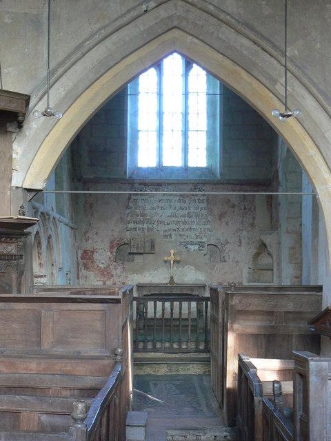 St Johns Church Inglesham, interior