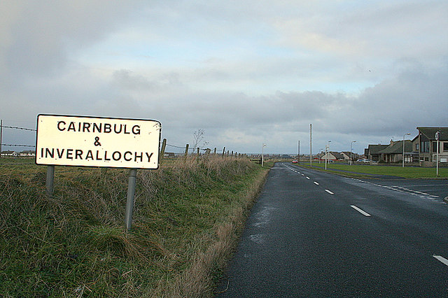 Approaching Cairnbulg and Inverallochy.