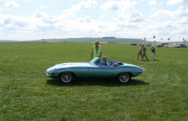 Jaguar 'E' type at Wroughton airfield