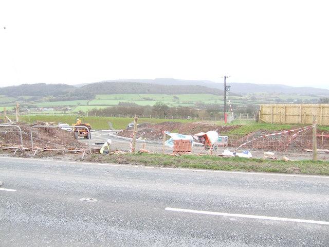 Bronllys road works