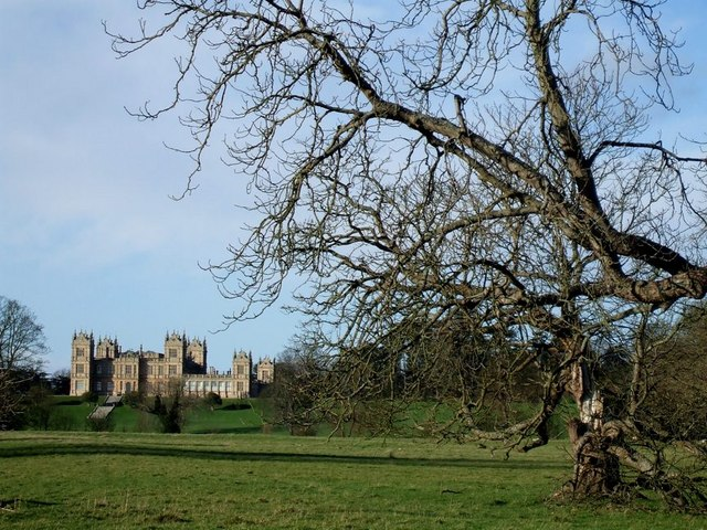 Mentmore Towers across its grounds