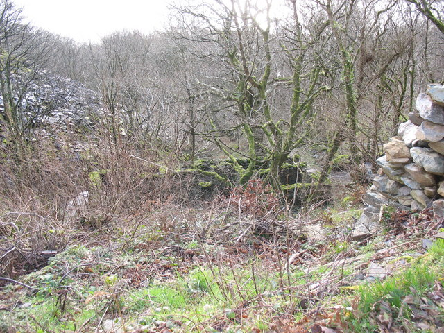 Old  buildings and a rubbish run on the Faenol Quarry site