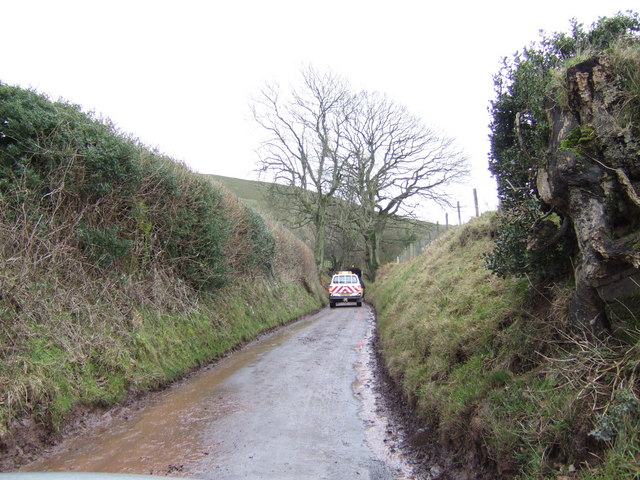 Upper road at Rhyd-y-bont