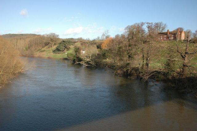 The river Wye at Bridge Sollers