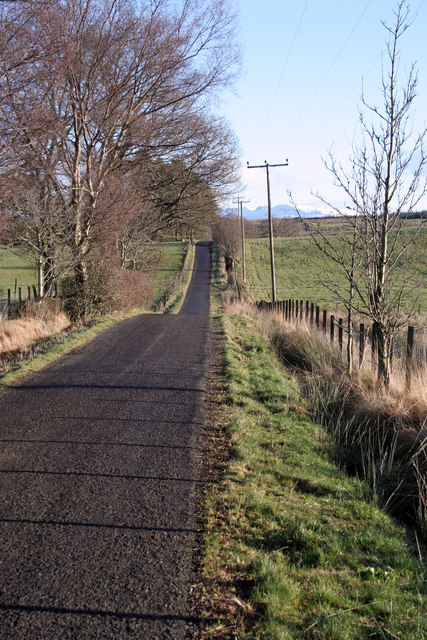 Road leading to Cameron Muir