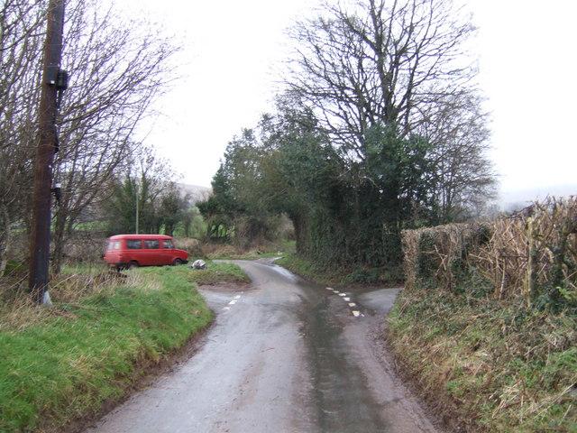 Crossroads in the Rhiangoll valley