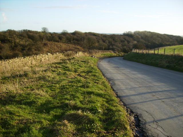 Unclassified lane leading down Netherdale