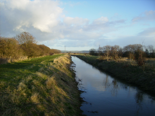 The wider section of the River Derwent at Foulbridge