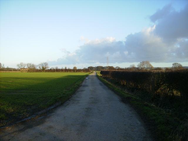 Private lane south of Snainton Ings Farm