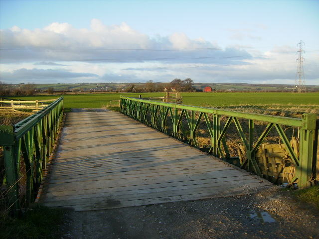 Bridge on track over the River Derwent south of Snainton