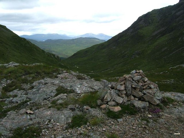 The cairn at the bealach