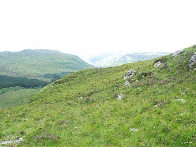 Going down An Gleannan