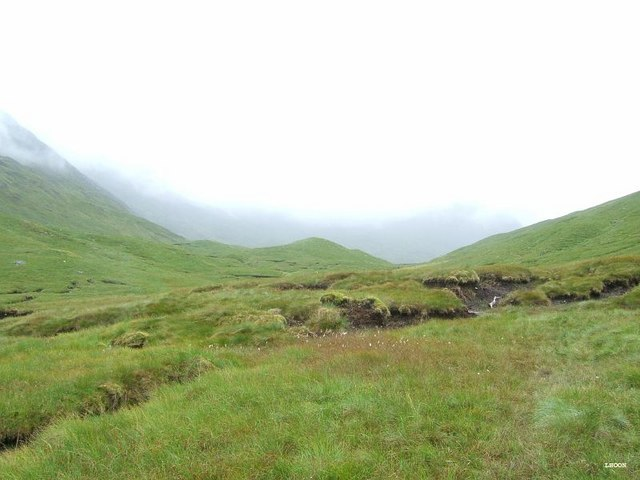 Cnoc na Cuaille marks the end of the glen Gniomhaidh